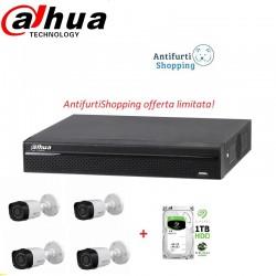Kit Videosorveglianza Dahua dvr5in1 +4bullet da 1mpx+HD da 1TB