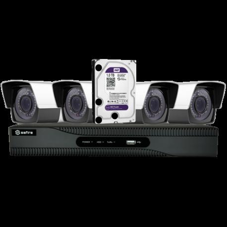 Kit Videosorveglianza completo con telecamere varifocal
